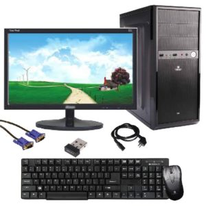 Nallu Assembled Desktop Computers (Core 2 Duo Processor/2GB RAM /320GB SATA HDD/15.6 inch monitor/DVD/Wifi) with Windows Trial Operating System